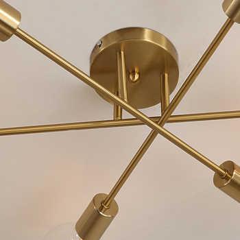 DARHYN Modern chandelier Sputnik lamps semi-embedded ceiling lamp brushed antique gold lighting 6 lights Nordic home decoration