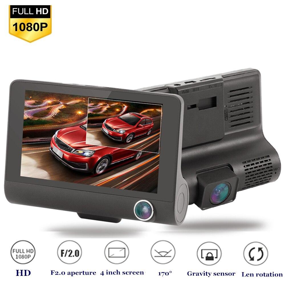 Видеорегистратор, Автомобильный видеорегистратор, камера 1080P HD, видеорегистратор 4 k, автомобильная камера ночного видения 170, широкоугольны...