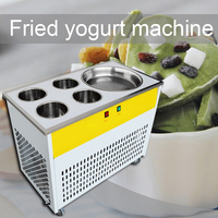 1800W single pot + four refrigerated barrel fried ice machine commercial fried ice machine multi function fried yogurt machine