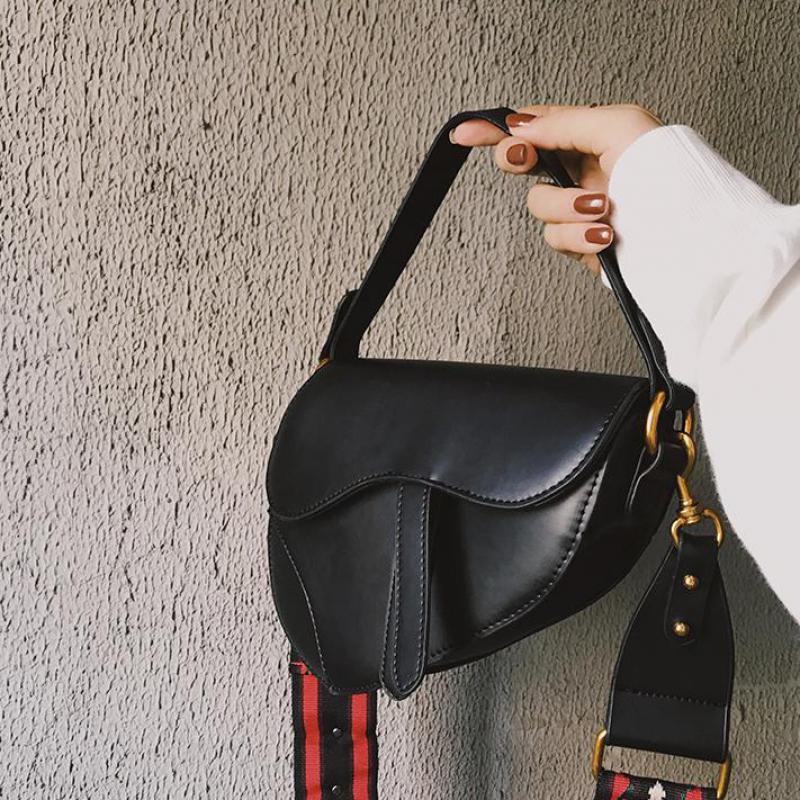 Vinatge Saddle Bag Female Handbag 2020 New Korean Fashion Wild Shoulder Bag Tide Crossbody Bags D58