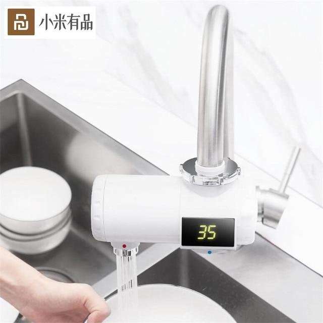 Youpin Xiaoda التدفئة الفورية صنبور المطبخ سخان مياه كهربي 30 50 درجة مئوية درجة الحرارة الباردة الدافئة قابل للتعديل صنبور