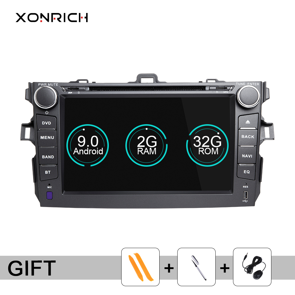 2 Din Android 9.0 Car DVD Player For <font><b>Toyota</b></font> <font><b>Corolla</b></font> 2007 2008 2009 2010 <font><b>2011</b></font> <font><b>Multimedia</b></font> Stereo GPS NavigationAutoRadio head unit image