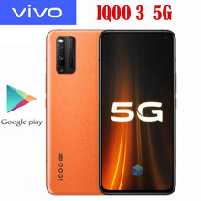 Nuevo Original VIVO IQOO 3 5G SmartPhone Snapdragon 865 Android 10 6,44 pulgadas Super AMOLED 2400x1080P 55W Super cargador 4440Mah NFC