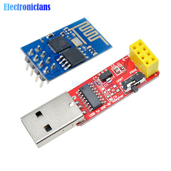 CH340 USB to ESP8266 Serial ESP-01 ESP-01S ESP01 ESP01S Wireless Wifi Developent Board Module for Arduino Programmer Adapter - discount item  15% OFF Active Components
