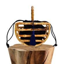 Новинка Бамбуковая сумка ручной работы с кисточками Женская