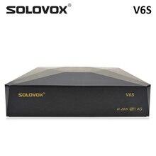 SOLOVOX receptor de TV satélite V6S, DVB S2, compatible con M3U, Xtream, Stalker, tarjeta compartida con IKS de Brasil, decodificador WiFi USB, 3G, 4G, PowerVU, Biss