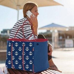 Image 5 - 2020 femmes sac de plage impression sac à main néoprène mode trapèze fourre tout sacs de messager femmes sac à bandoulière concepteur yoga sac