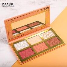IMAGIC – Palette de fard à paupières, 6 couleurs, hybride, pour le visage, cosmétique