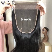 Closure 4x4 Baby-Hair Human Wigirl Straight 5x5 6x6 Middle/free-Part with Remy