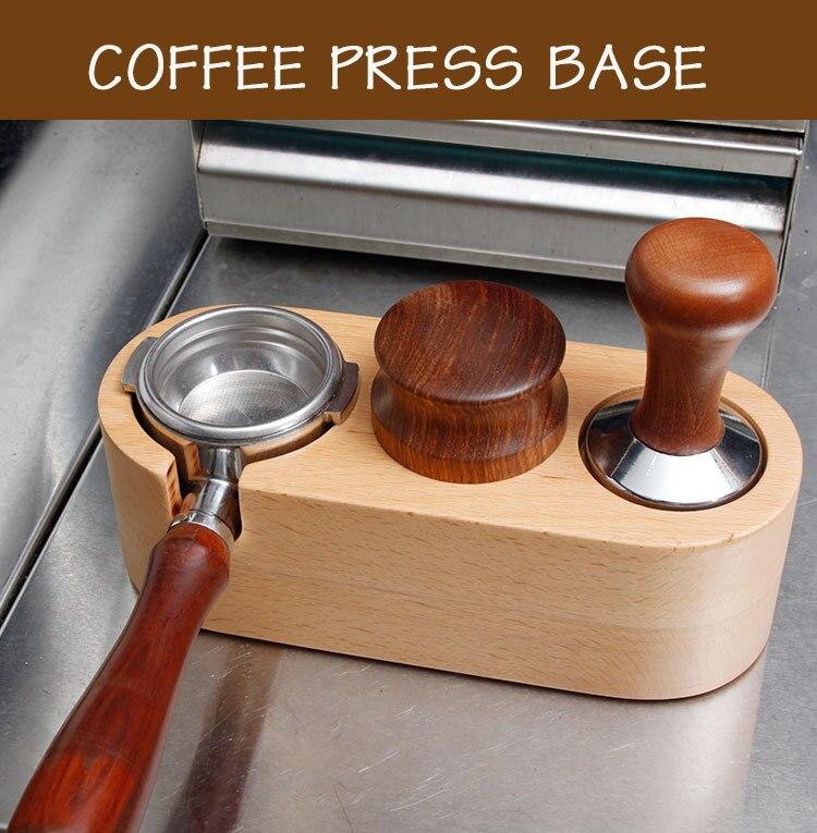 51/58 мм ручной деревянный держатель для темпера для кофе, коврик для бариста, для кофе, эспрессо, подставка для темпера для латте, художествен...