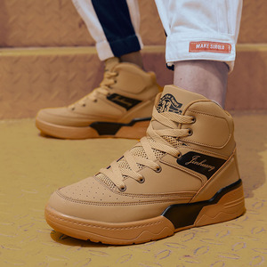 Image 2 - men shoes  mens shoes casual  man shoes leather genuine  sneakers men Canvas shoes walking shoes high top shoesLace up shoes