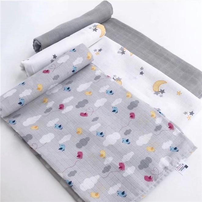 120cm*110cm Cotton Muslin Blanket Baby Blankets Newborn Muslin Blanket Baby Muslin Ortu