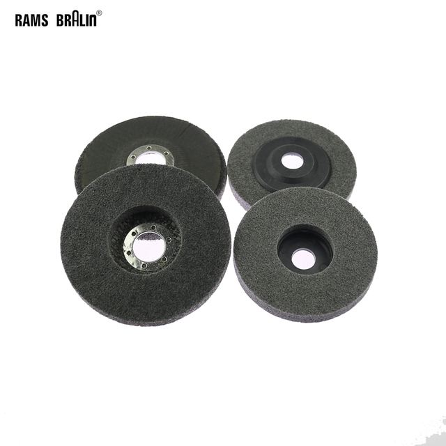 10 pieces 125/100mm Nylon Grinding Disc 7P 180# Flap Wheel for Metal Finish Wood Polishing on Angle Grinder