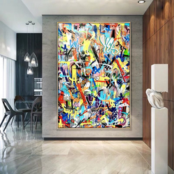Abstract Graffiti Art Boy Canvas Painting Abstract Modern Prints and Posters Cuadros Wall Art Picture for Living Room Home Decor