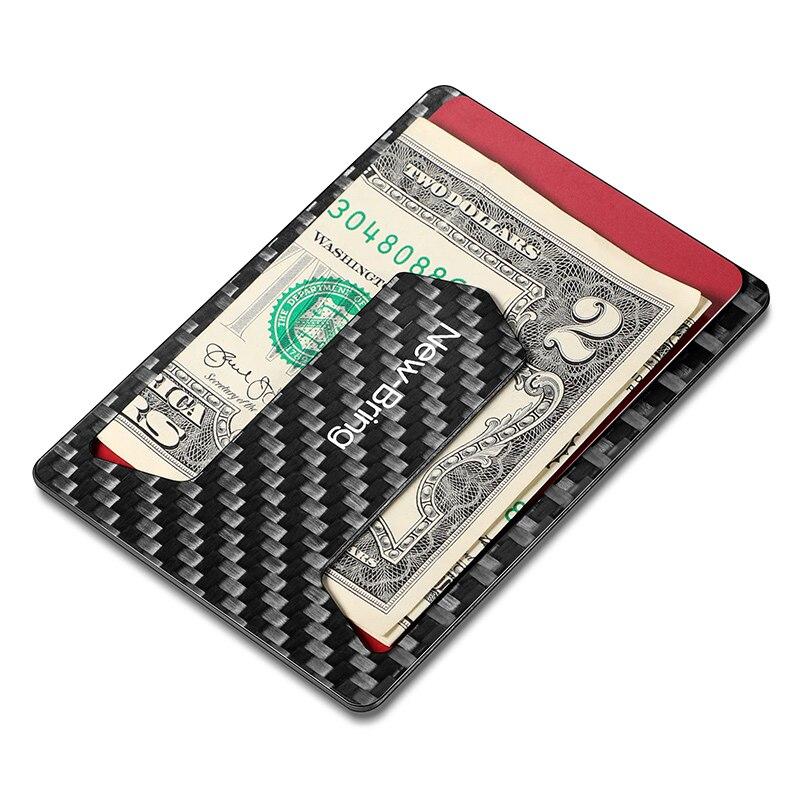 Men Business Card Holder Slim Thin Carbon Fiber Wallet Bank Credit Card Case Id Holders Cardholder Multifunction Bottle Opener