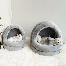 عالية الجودة بيت قطة سرير القطط الحيوانات الأليفة القطط أريكة الحصير سرير دافئ لعبة الكلب ل بيت صغير المنزل كهف النوم عش داخلي المنتجات