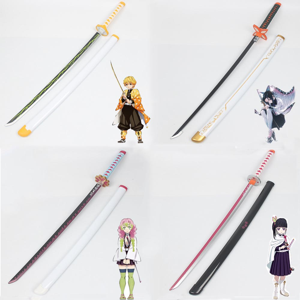 Demon Slayer: Kimetsu No Yaiba Cosplay Props Tanjirou Kamado Wooden Sword Weapons Prop For Comic Party Halloween Cosplay Wig