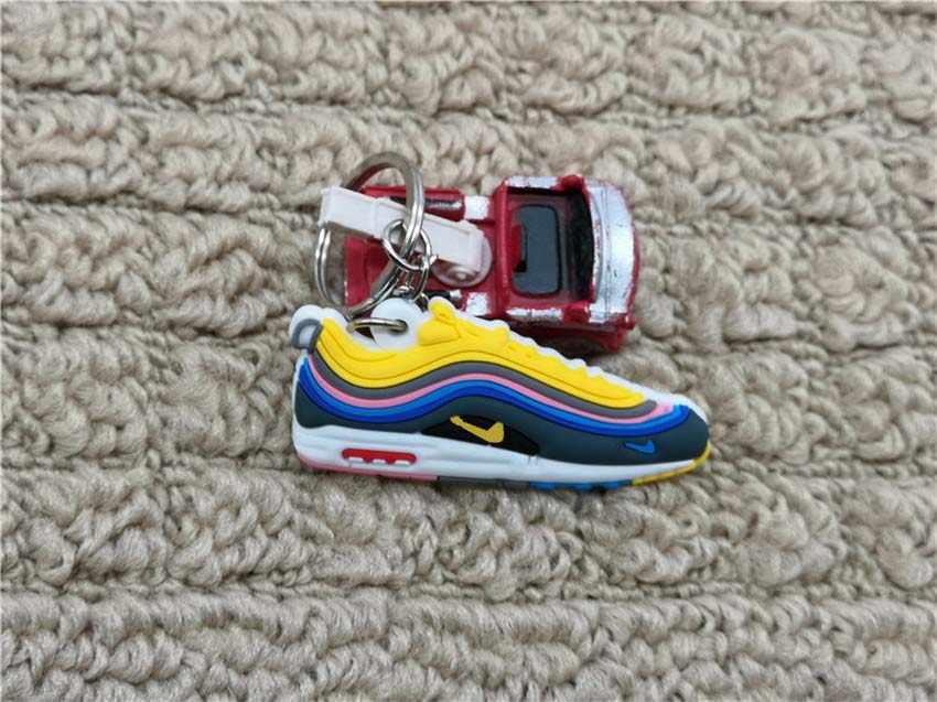 Bán dễ thương Mini Silicone Không giày Móc Khóa Giày bóng rổ Ba lô mặt dây chuyền chìa sáng tạo lực lượng giày móc khóa
