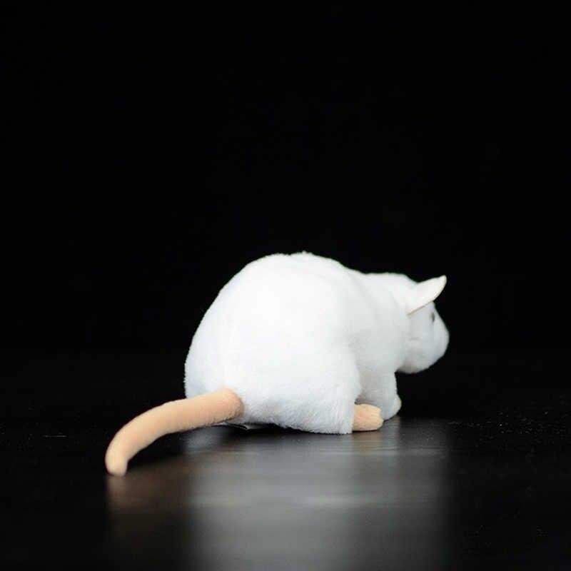 Thêm Mềm Mại Thực Mini Trắng Chuột Chuột Sang Trọng Đồ Chơi Sống Động Như Thật Chuột Nhồi Bông Con Đồ Chơi Sinh Nhật Giáng Sinh Quà Tặng
