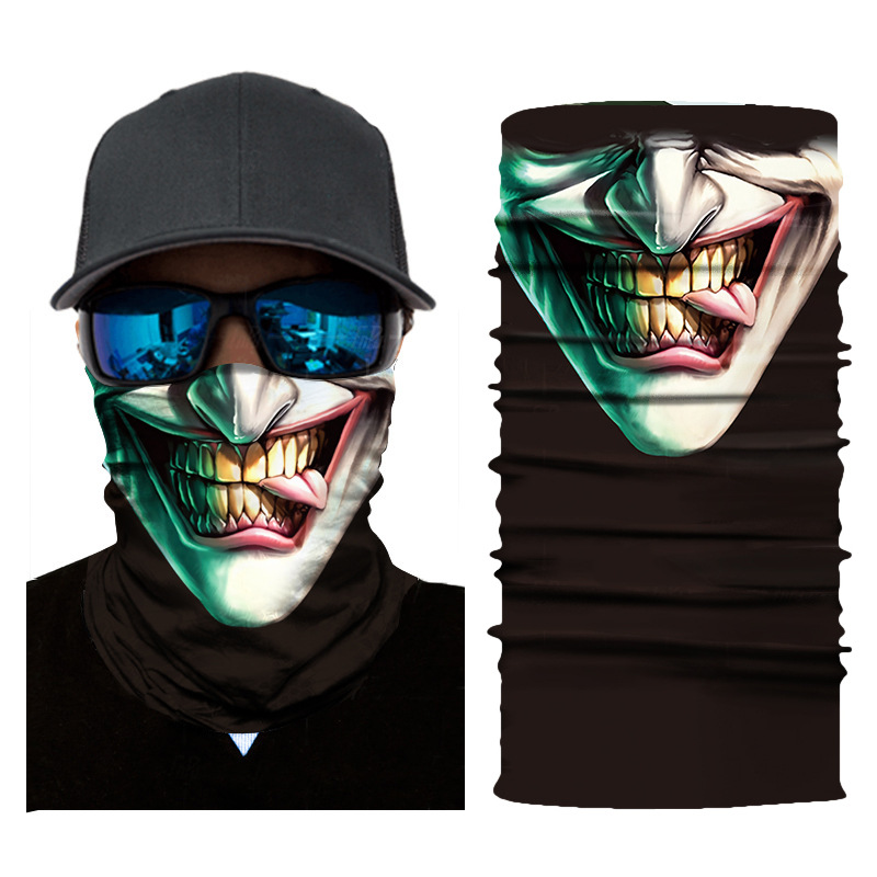 1pc Mouth Face Mask 3D Print Skull Animal Head Cover Outdoor Cyclinging Face Mask Head Hair Band Hood Scarf Pirate Hat Wristband