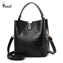 FUNMARDI Fashion Alligator Shoulder Bags Women Handbags PU Leather Bucket Bags Brand Crocodile Small Crossbody Bag Lady WLHB2026