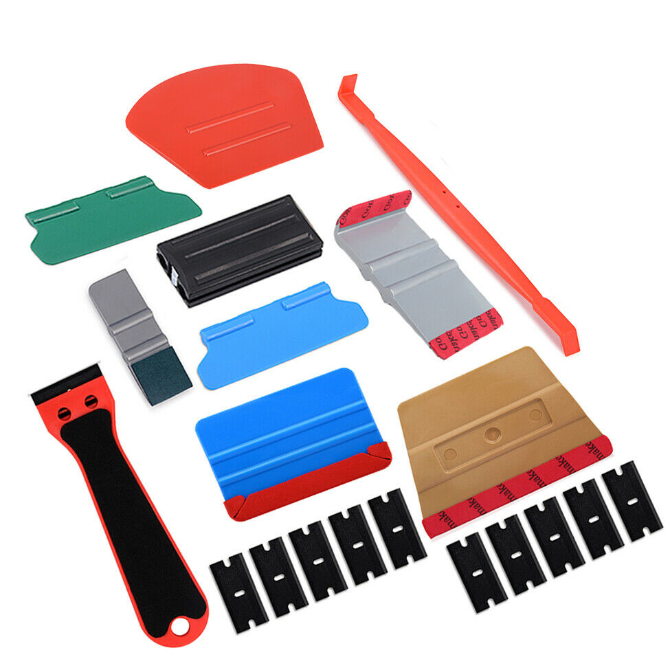 EHDIS Vinyl Car Film Scraper Tools Kit Carbon Fiber Wrap Decal MagnetIc Edged Felt Squeegee Vehicle Window Tint Auto Accessories(China)