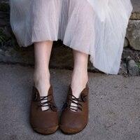 Artmu Origional 2020 Spring New Retro Flower Shoes Soft Bottom Moccosins Flat Sole Women's Shoes Genuine Leather Handmade Shoes