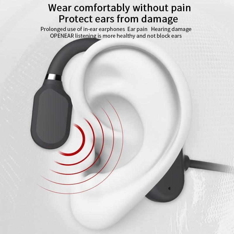 Bone Conduction Headphones Bluetooth Wireless Waterproof Comfortable Wear Open Ear Hook Light Weight Not In-ear Sports Earphones 3