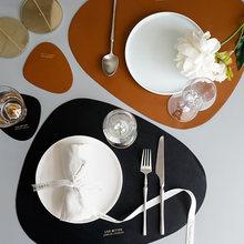 Коврик для столовых приборов коврик стола искусственная кожа