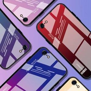 Image 2 - 고급 템퍼 그라디언트 스테인드 글라스 전화 케이스 아이폰 11 로트 프로 맥스 x xr xs 8 7 6 6s 플러스 커버 소프트 에지 드롭 보호