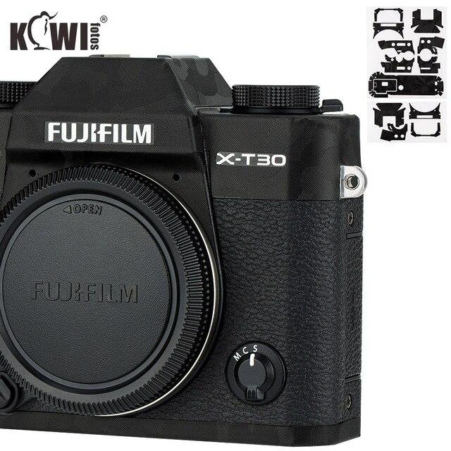 KIWI Anti Scratch กล้องฝาครอบผิวสำหรับ Fujifilm X T30 Fuji XT30 กล้องฟิล์มสไลด์ 3M สติกเกอร์เงาสีดำ