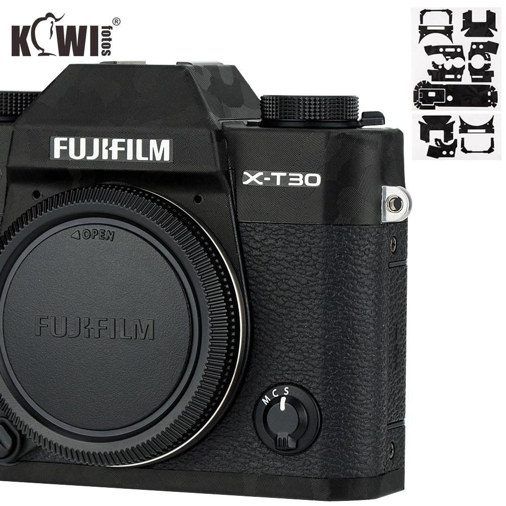 Kiwi Anti-ScratchCamera Body Cover Skin ProtectorFor Fujifilm X-T30 Fuji XT30 Camera Anti-Slide Film 3M Sticker Shadow Black