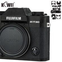 Kiwi anti rayures caméra corps couverture peau protecteur pour Fujifilm X T30 Fuji XT30 caméra Film antiglisse 3M autocollant ombre noir