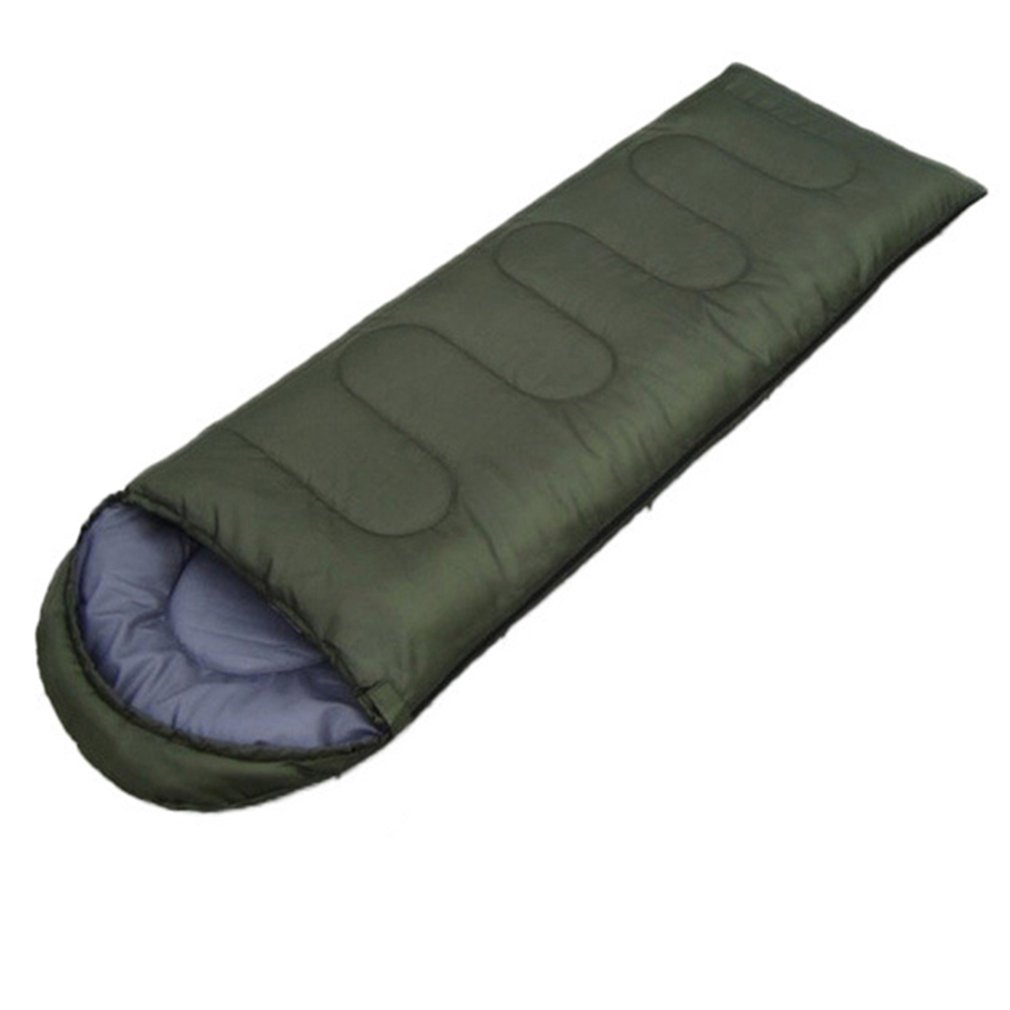 Envelope Outdoor Camping Adult Sleeping Bag Portable Ultra Light Waterproof Travel Hiking Sleeping Bag With Cap