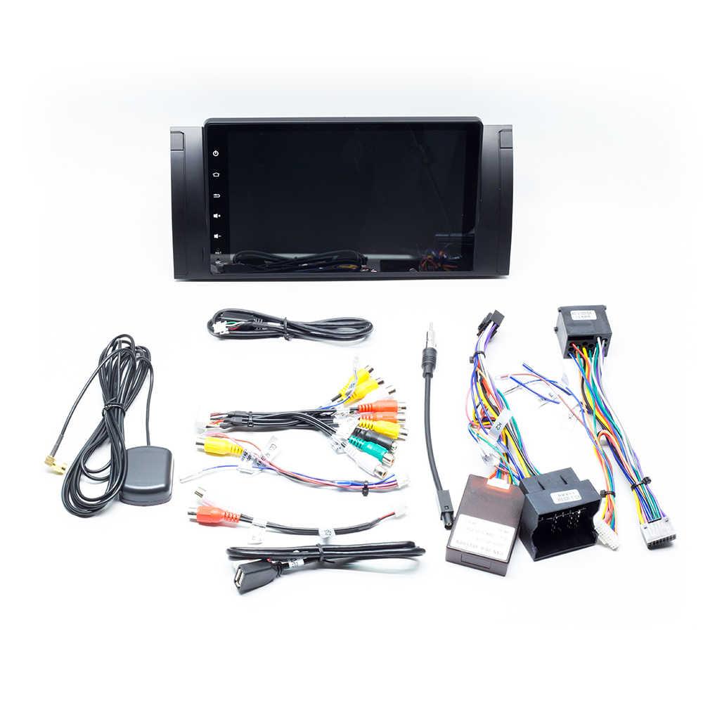 IPS1 Din Android 9,0 Car Radio NO reproductor de DVD para BMW X5 E53 E39 BMW serie 5 multimedia GPS navigationstereo unidad de cabezal de Audio DSP