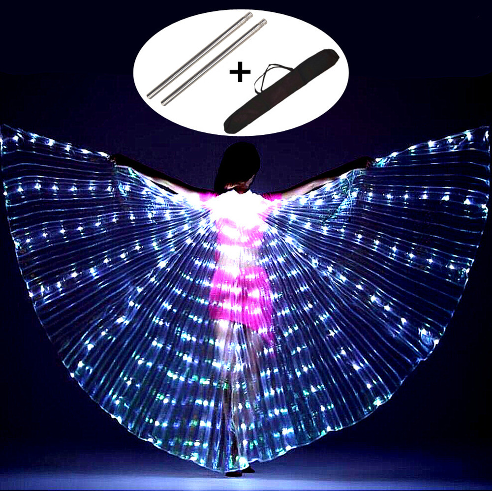 Danse du ventre LED ailes enfants Performance papillon Fluorescent Isis ailes danse du ventre danse du ventre carnaval LED Costumes spectacles