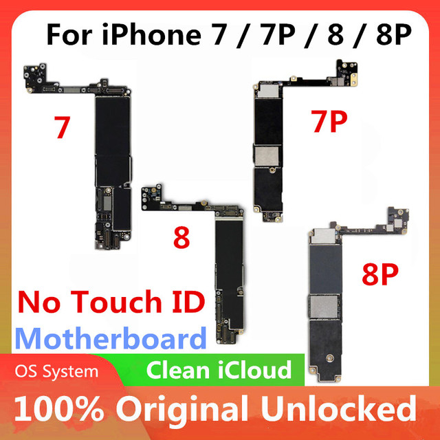 IPhone 7 / 7 Plus / 8 / 8 plus anakart Unlocked anakart dokunmatik kimliği mantık kurulu ile cips anakart