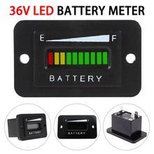 36V Battery Indicator Meter Gauge For EZGO Club Car Yamaha Golf Cart Boat ATV Lithium Battery Tester Voltmeter Dual Display