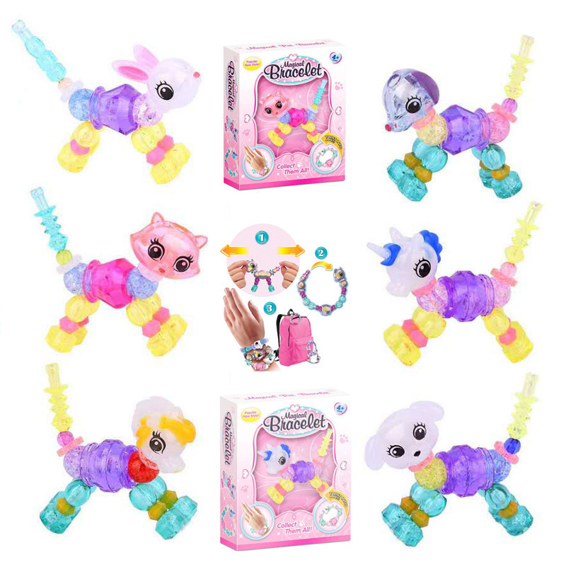 Surprise Lian Ai Elves CHILDREN'S Toy Handmade Beaded Bracelet Magic Handmade DIY Magic Animal Flexible Bracelets