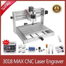 CNC 3018 프로 최대 CNC 조각 기계 GRBL 제어 200W 스핀들 15w 레이저 조각사 3 축 PCB 밀링 머신 CNC 라우터
