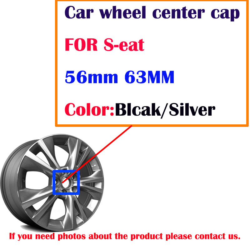 20pcs 56mm 63mm black silver <font><b>car</b></font> <font><b>Wheel</b></font> Center Caps hufor <font><b>Seat</b></font> ibiza 6j 6l fr Ateca <font><b>Altea</b></font> xl <font><b>leon</b></font> 2 ateca fr ibiza Alhambra image