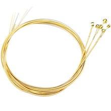 Комплект из 6 сменных сталь акустика гитара струны антикоррозийный золото яркий долговечный и качественный