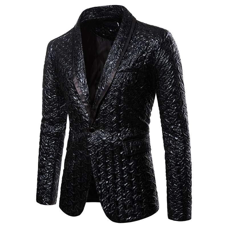 New Casual Suit Color Bronzing Ordinary Long-sleeved Fashion Urban Casual Suit Suit Jacket Fashion Men's Suit
