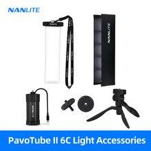 Nanlite PavoTube II 6C lumière accessoires sac étanche oeuf caisse Softbox nid d'abeille grille télécommande trépied alimentation