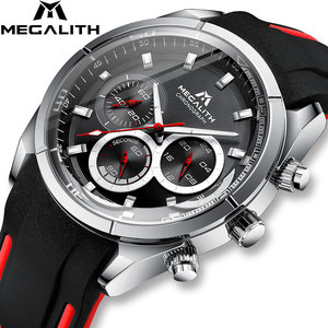 Image 1 - MEGALITH 2019 New Arrivals Watches for Men Top Brand Luxury Casual Sport Waterproof Watch Man Clock Military Chronograph watches