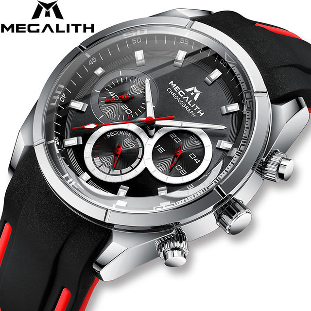 MEGALITH 2019 nowości zegarki dla mężczyzn Top marka luksusowe Casual Sport wodoodporny zegarek człowiek zegar chronograf wojskowy zegarki