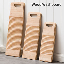 Laundry-Board Antislip-Laundry-Accessories Washing Portable Clothes-Cleaning-Tools Wood