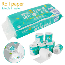 10 Rolls /pack Toilet Paper Water soluble toilet paper Home Bath Soft Toilet Roll Paper Primary Wood Pulp Toilet Paper Tissue