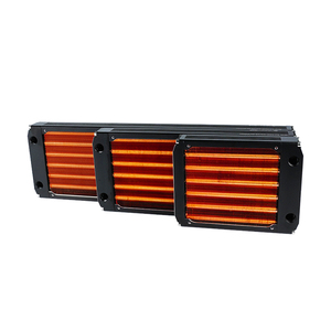 Image 5 - Radiador de cobre de refrigeración por agua de 120/240/360mm para ventilador de 12cm disipador térmico de computadora refrigerador maestro 30mm grosor plata/Negro, Rojo V3