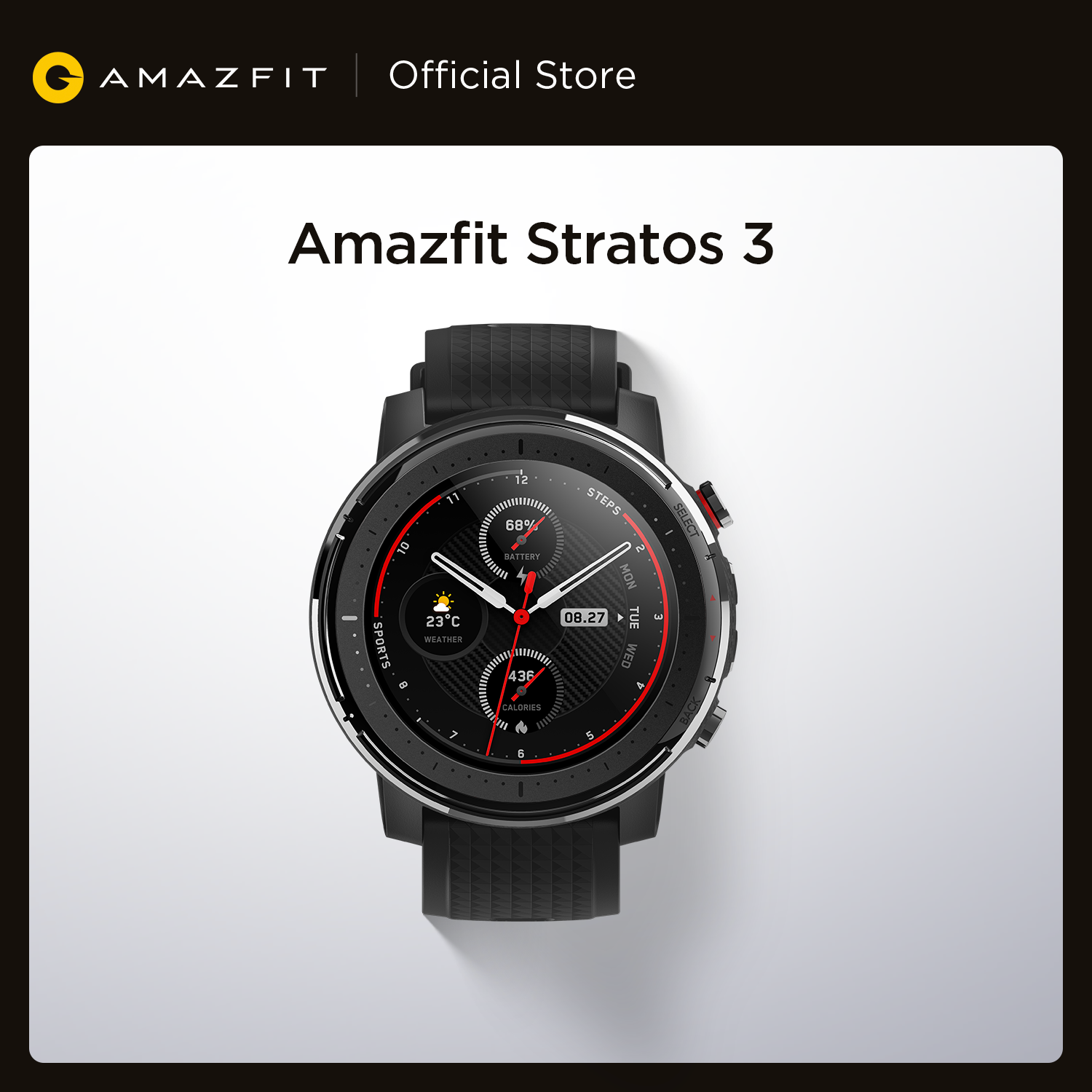 Smart-Watch GPS Bluetooth Global-Version Dual-Mode Android New Amazfit Stratos 3 5ATM